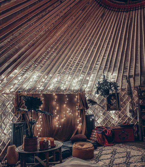 Instagramtraining in de yurt